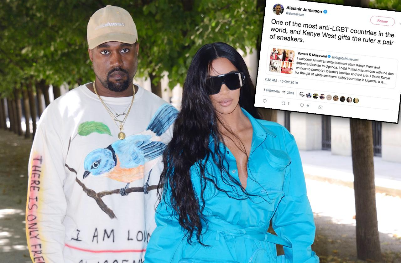 Kim Kardashian Kanye West Uganda Gay
