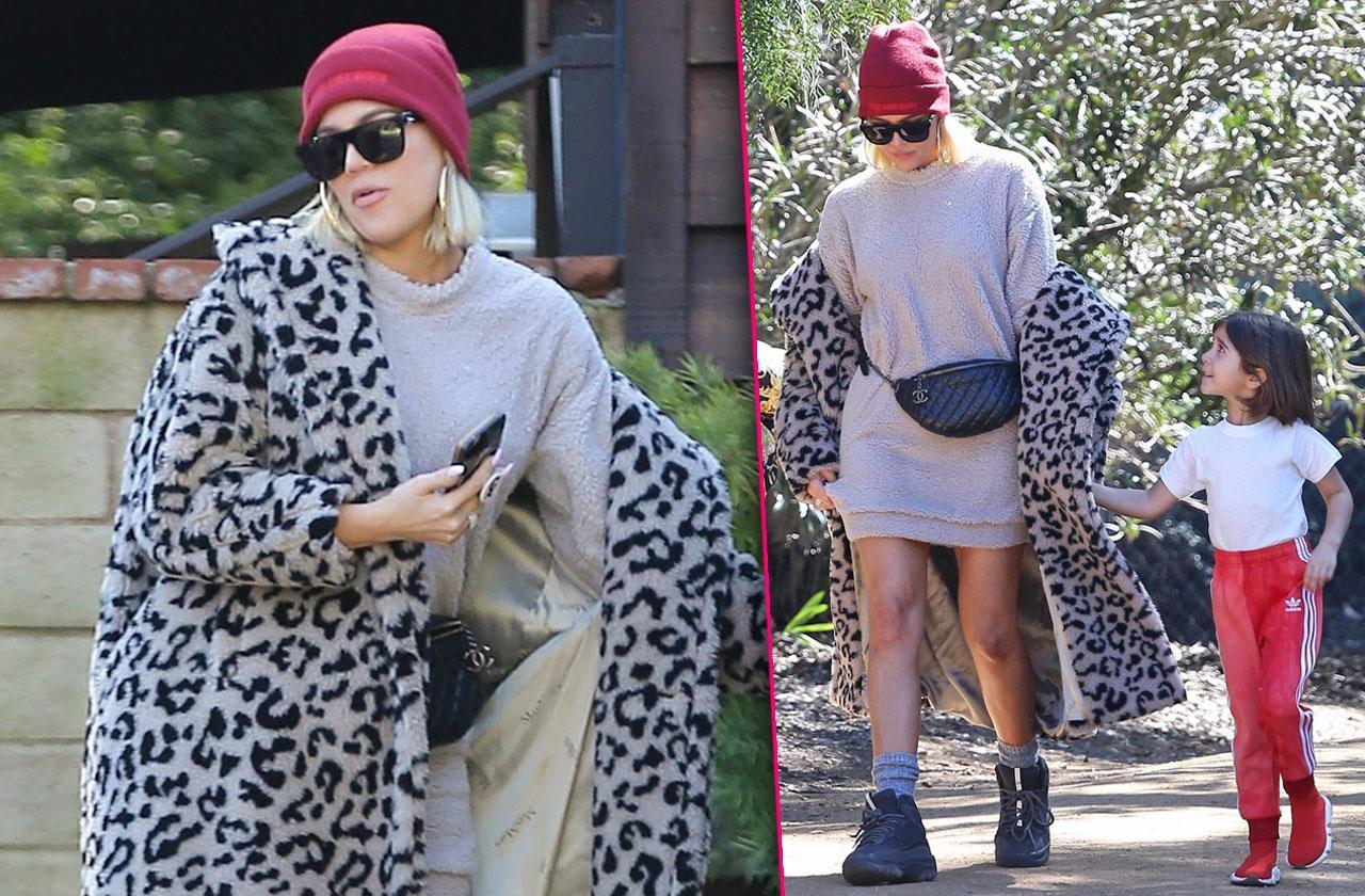 khloe kardashian attends church after tristan split