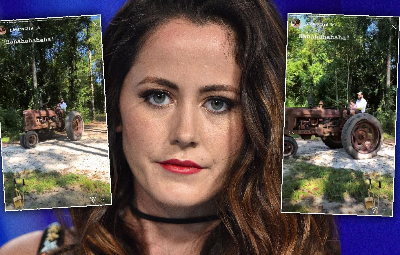 Jenelle Evans Husband David Eason Rides Tractor With Daughter Ensley