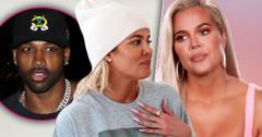 nset Of Tristan Thompson, Khloe Kardashian Wearing White Wool Hat Showing Pink Diamond Ring, Khloe Kardashian Looking Annoyed