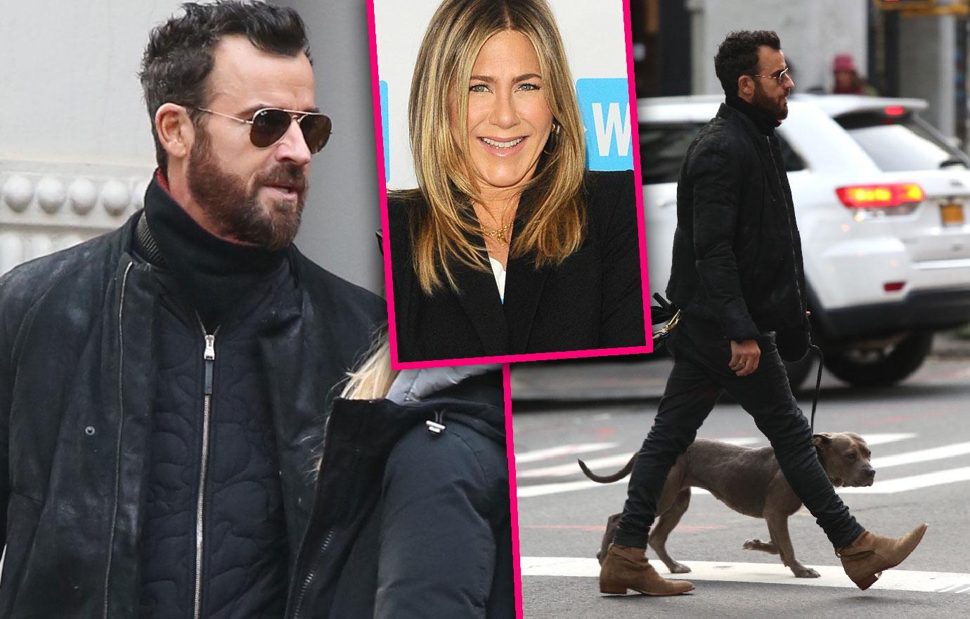 Justin Theroux Walks Dog After Jennifer Aniston Split Bachelor Life