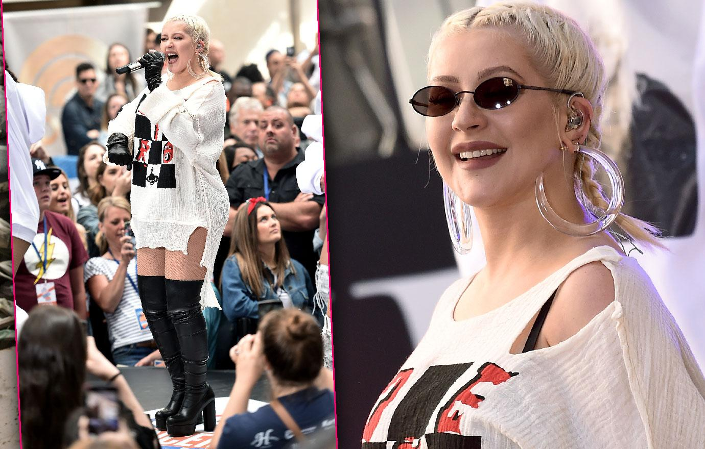 Christina Aguilera Looks Curvy In Today Show Appearance
