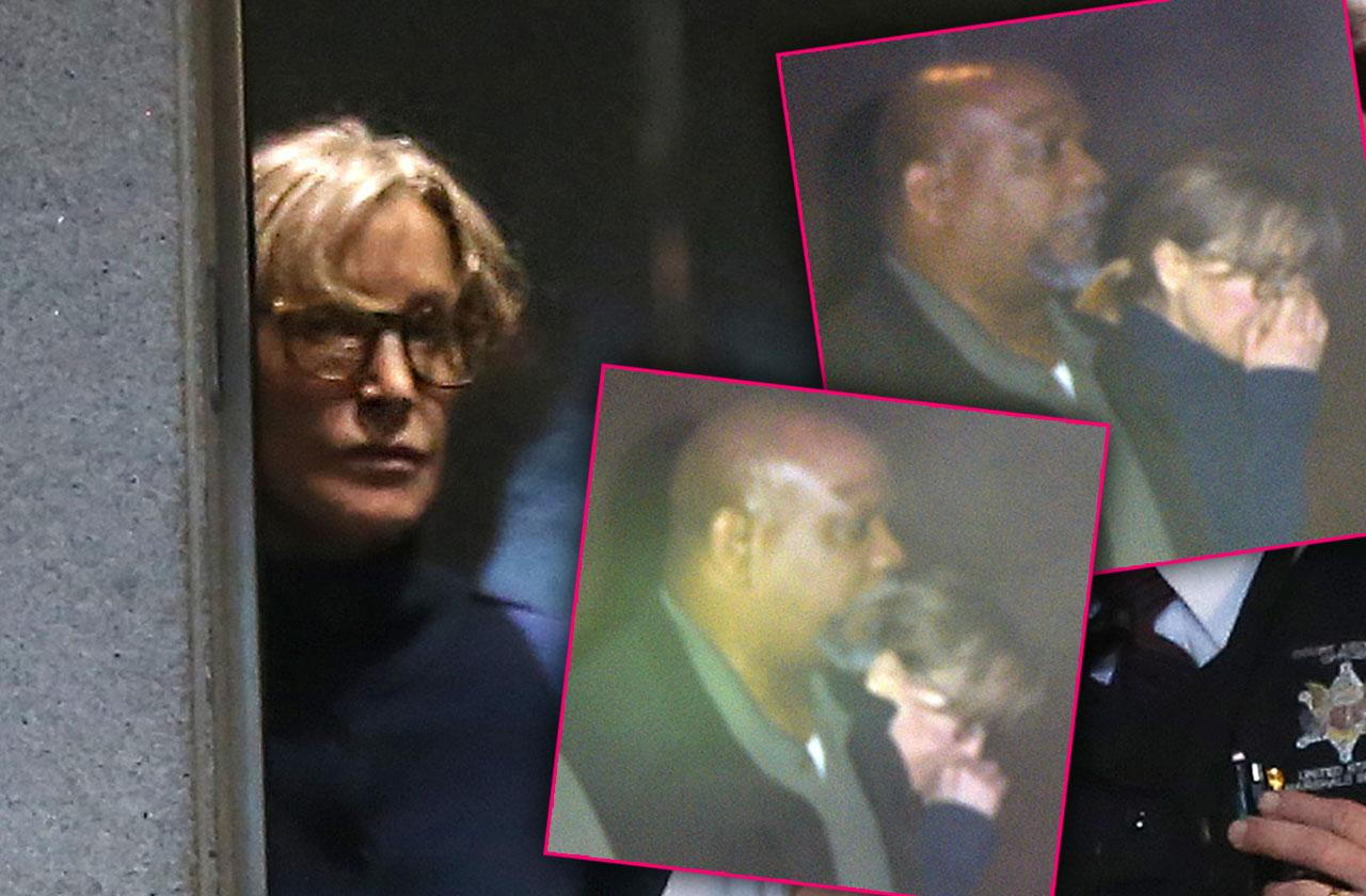 felicity Huffman leaving court college admission scam arrest photos