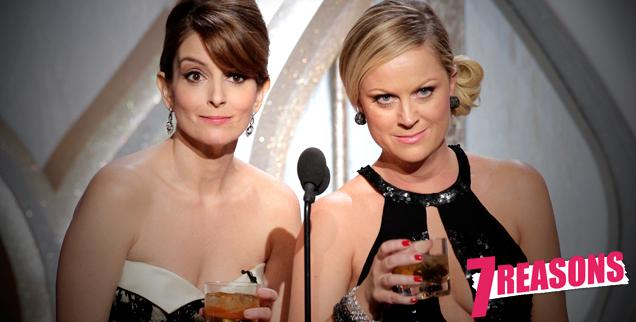 //tina fey amy poehler golden globes wide