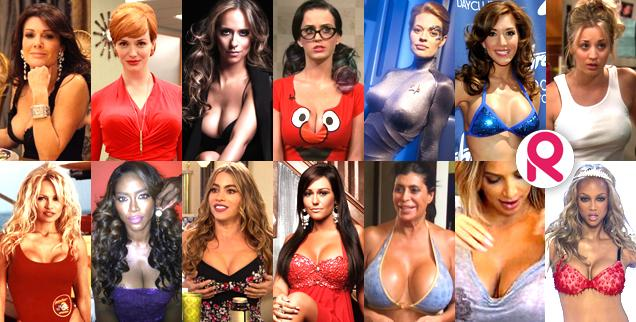 Hot female celebrities with big boobs The Biggest Boobs On Tv Do Not Adjust Your Screens