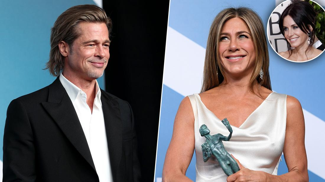 Courteney Cox Likes Posts Of Brad & Jennifer Aniston Embrace