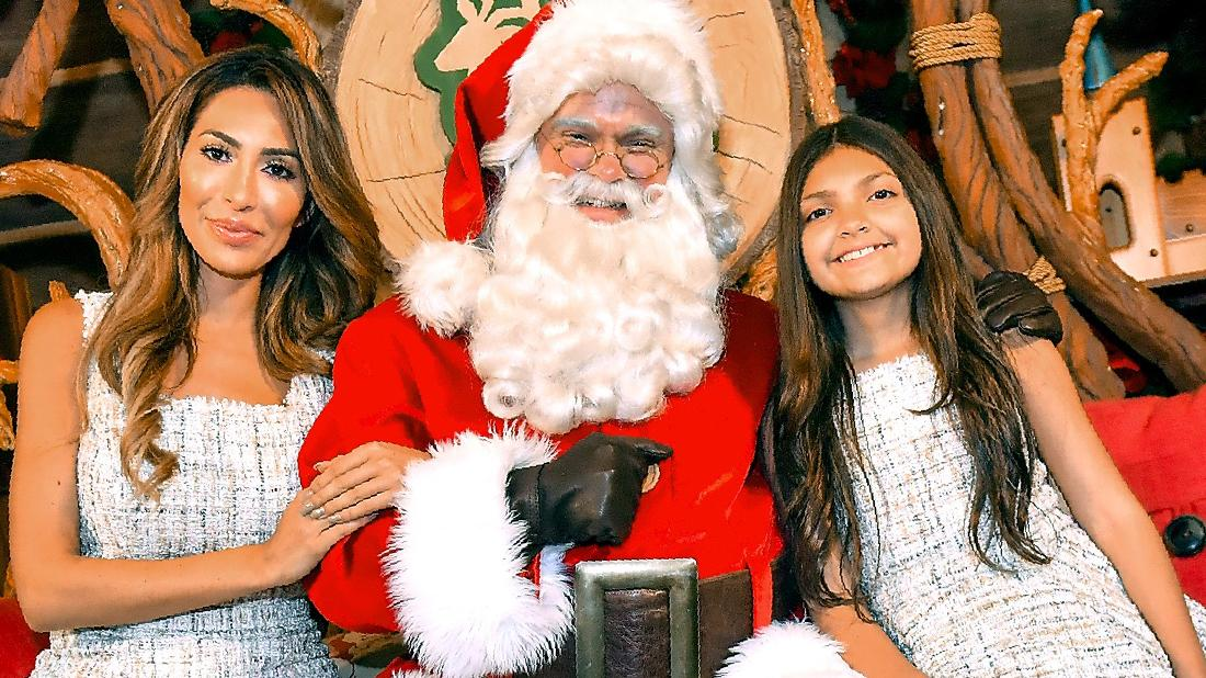 Farrah Abraham & Daughter Sophia Meet Santa Clause