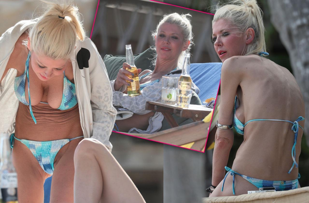 //Tara Reid skeletal uggs bikini pp