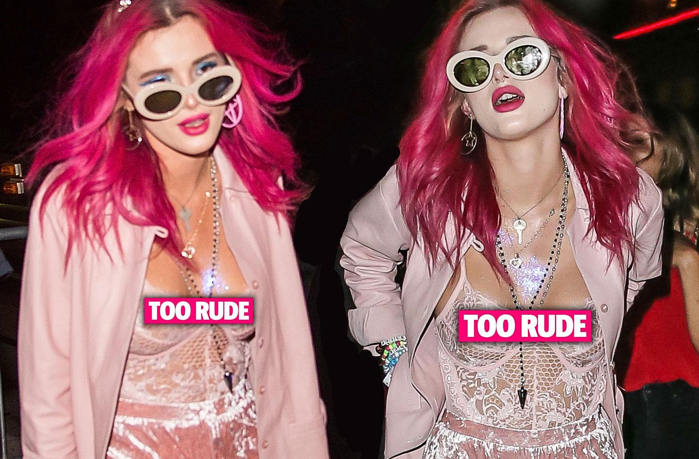 Bella Thorne Goes Braless In Racy NY Night Out