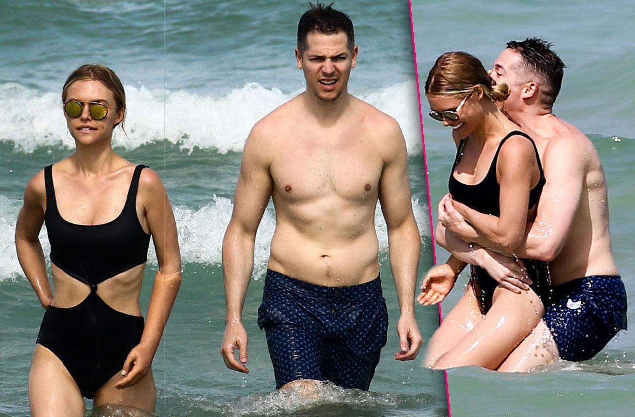 Jason Kennedy Shirtless Lauren Scruggs Bikini Miami