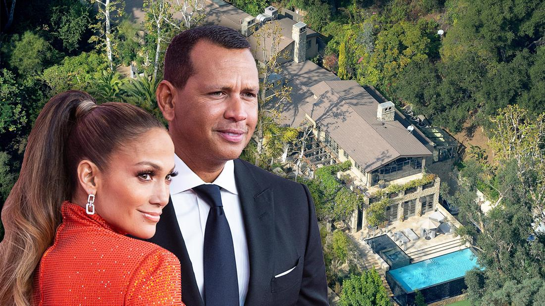 Alex Rodriguez Jennifer Lopez Wedding In Backyard Aerial Photo of Los Angeles Home