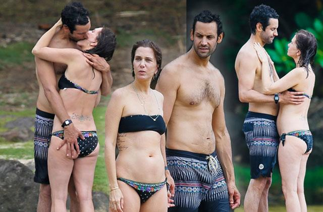 //kristen wiig bikini shirtless boyfriend avi rothman kiss hawaii pp