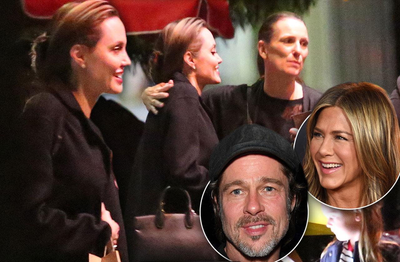 Angelina Jolie Resurfaces Brad Pitt Jen Aniston Birthday Party