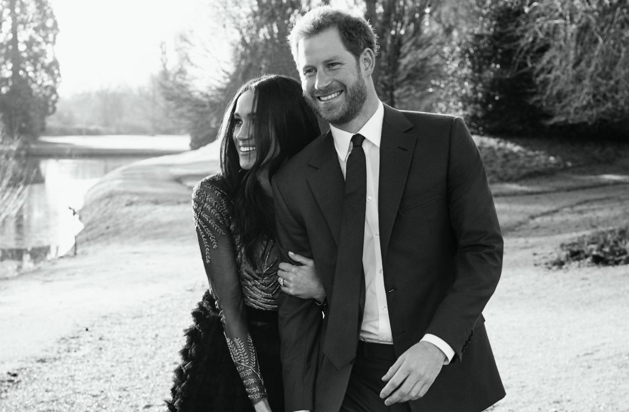 Prince Harry and Meghan Markle smile in official engagement photos