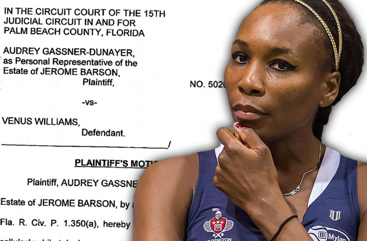 //venus williams fatal car accident wrongful death lawsuit fight phone records pp