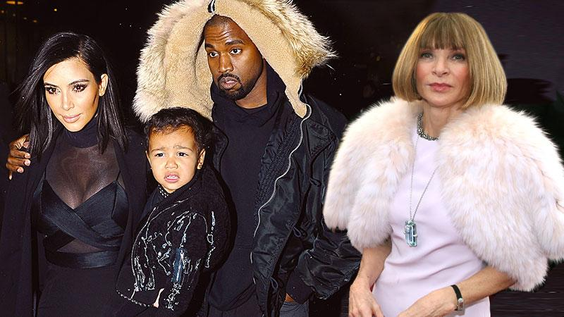 //anna wintour kim kardashian black clothing north west