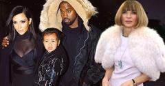 //anna wintour kim kardashian black clothing north west