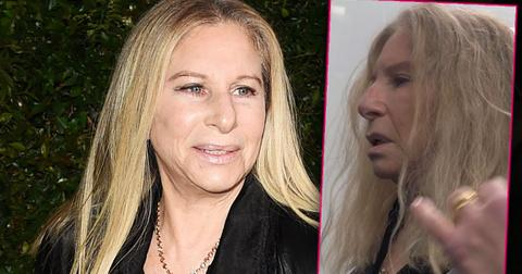 Barbra Streisand Looking Healthy on the Left and with No Makeup Looking Sick on the Right