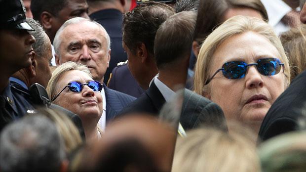 Hillary Clinton health crisis 9 11 memorial faint update