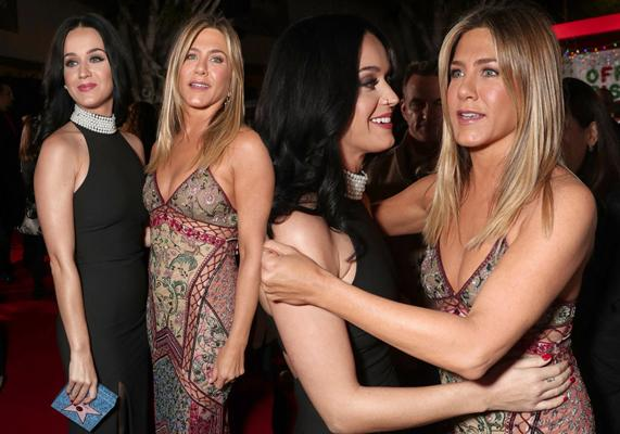 Jennifer Aniston Katy Perry Office Christmas Party Premiere