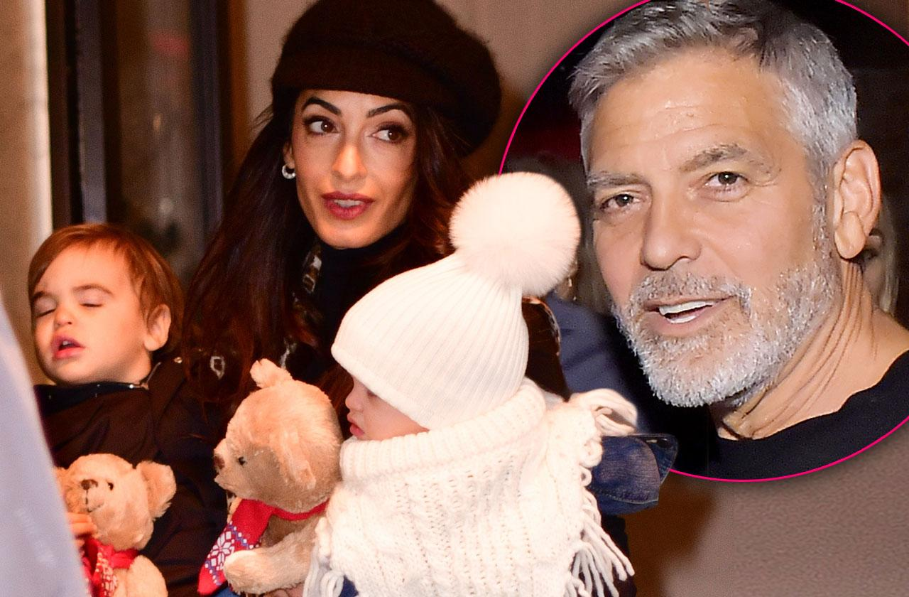 George Clooney Twins Amal Clooney Marriage Drama