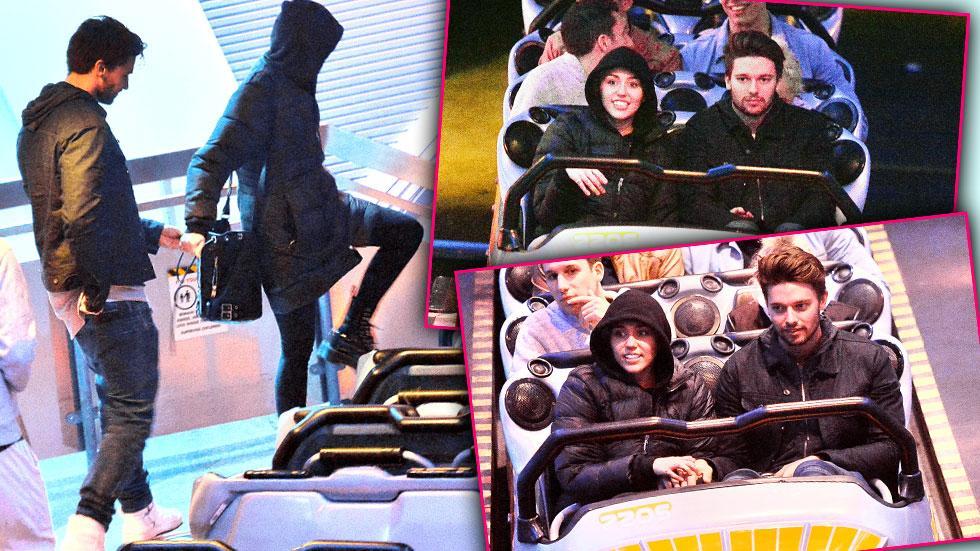 Miley Cyrus & Patrick Schwarzenegger Disneyland