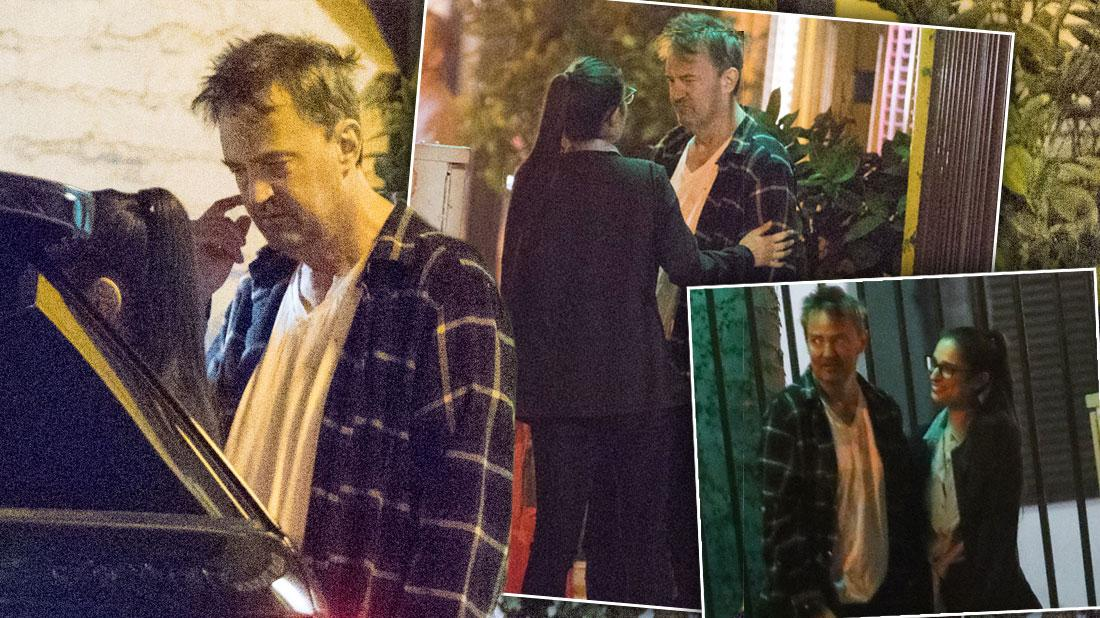 Matthew Perry Looks Disheveled On Date With Mystery Woman