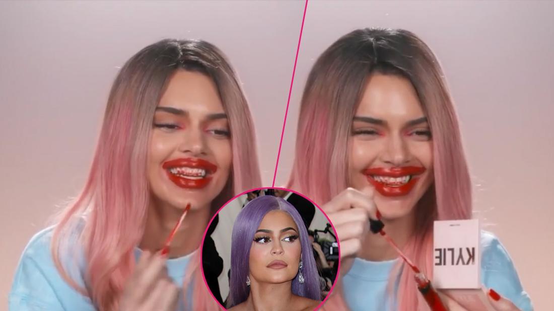 Kendall Jenner Mocks Kylie's Lips In 'KUWTK' Finale Video