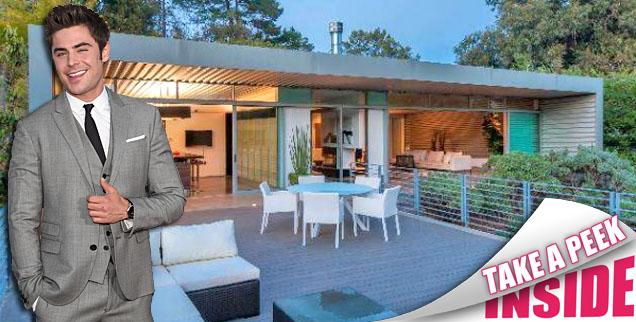 //zac efron sells hollywood hills party pad