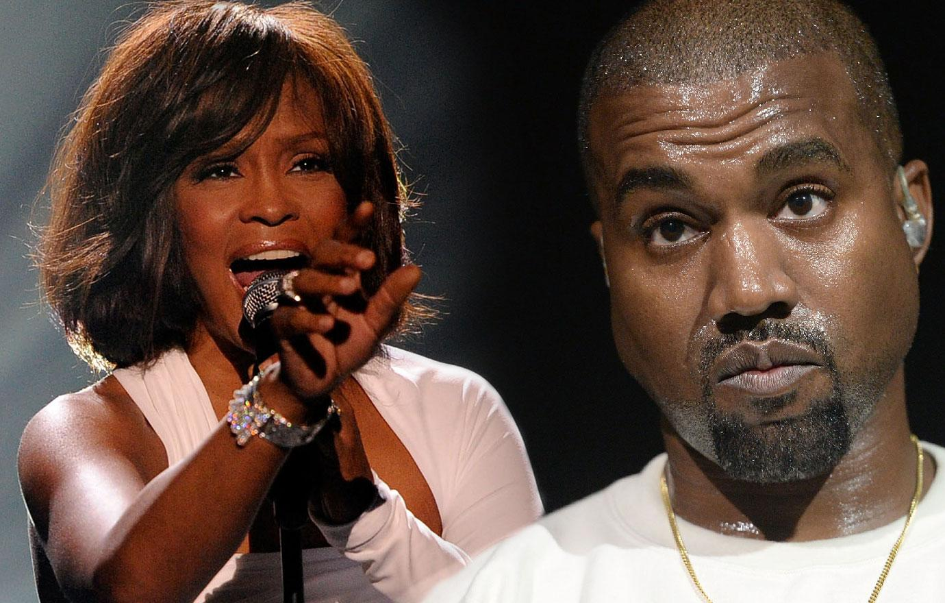 Whitney Houston Cousin Blasts Kanye West For Using Her Bathroom Pic