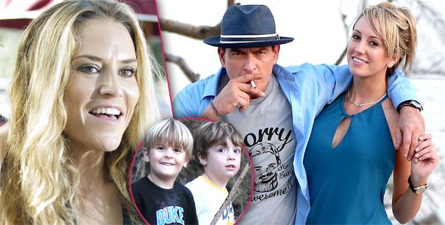 //brooke mueller lets charlie sheen porn star brett rossi see children bob max sheen wide