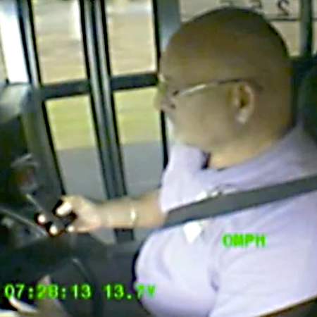 Bus Driver texting