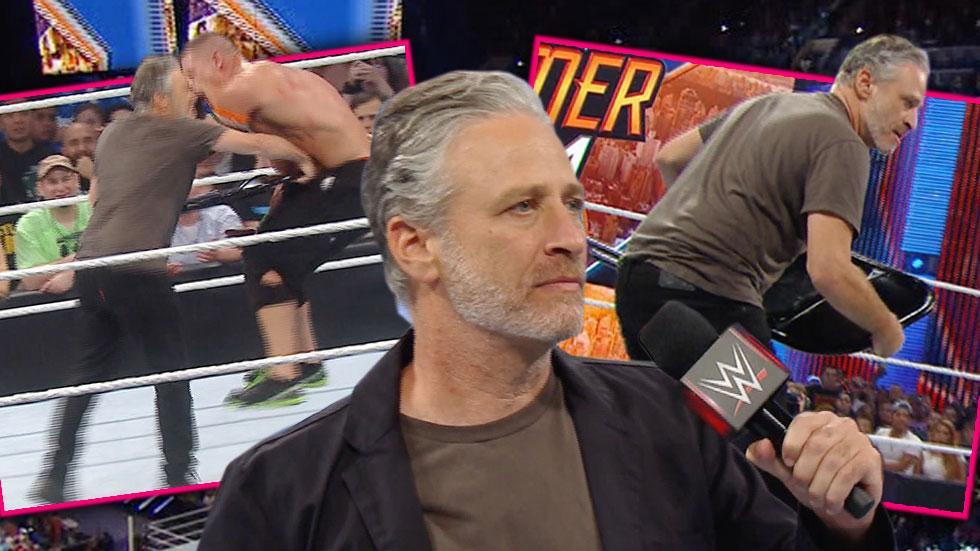 Jon Stewart John Cena Monday Night Raw