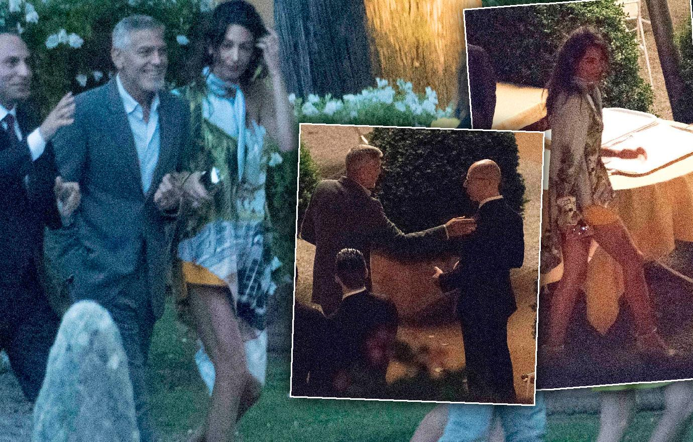 George Clooney Dinner With Amal After Accident
