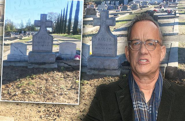 tom hanks dead mom smashed tomb bad burial