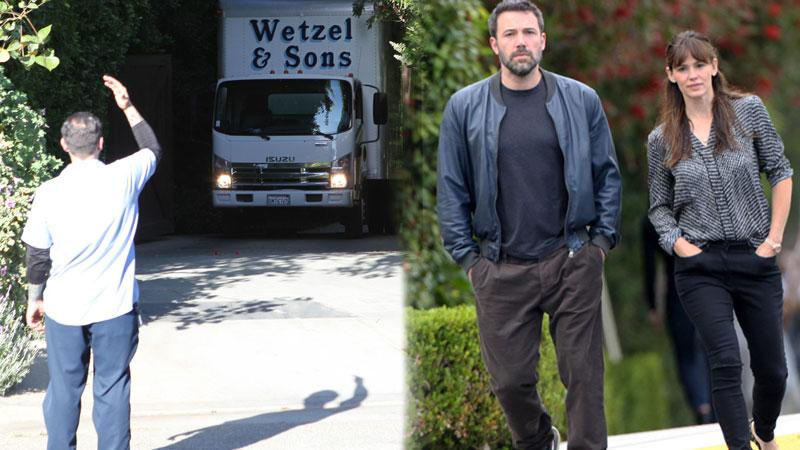 Ben Affleck Moving Trucks On The Rocks With Jennifer Garner