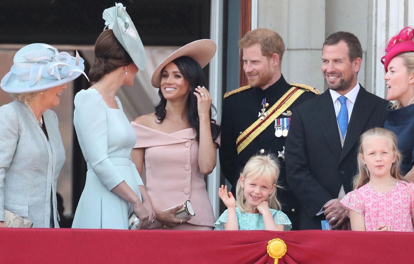 Meghan Markle Joins Royal Family At Buckingham Palace