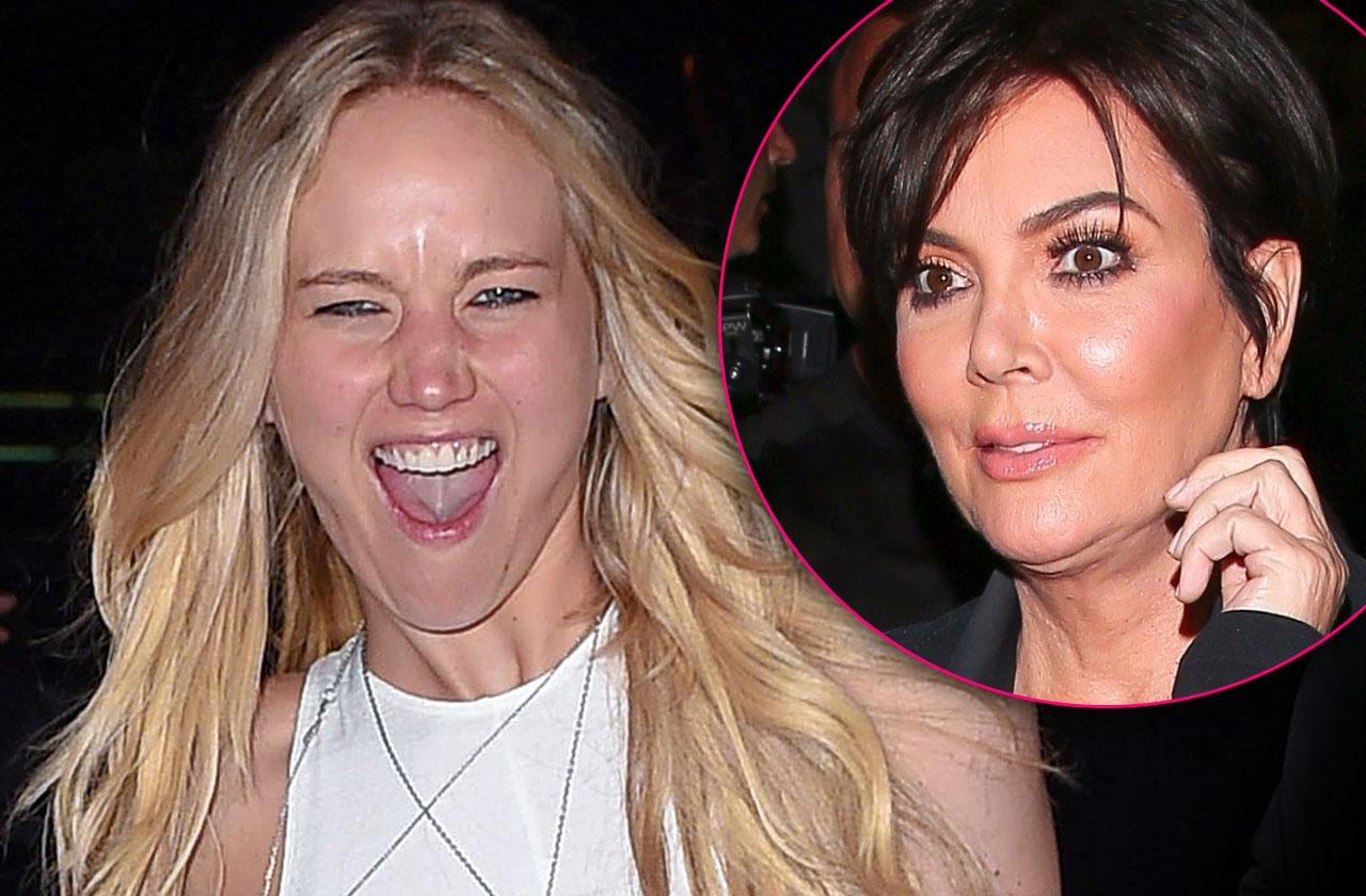Jennifer Lawrence Drunk With Kris Jenner