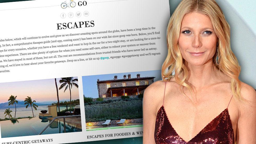 Gwyneth Paltrow Goop Vacations