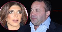 Inset Of Shocked Teresa Giudice, Joe Giudice Looking Sad Wearing Light Blue Shirt And Dark Blue Blazer