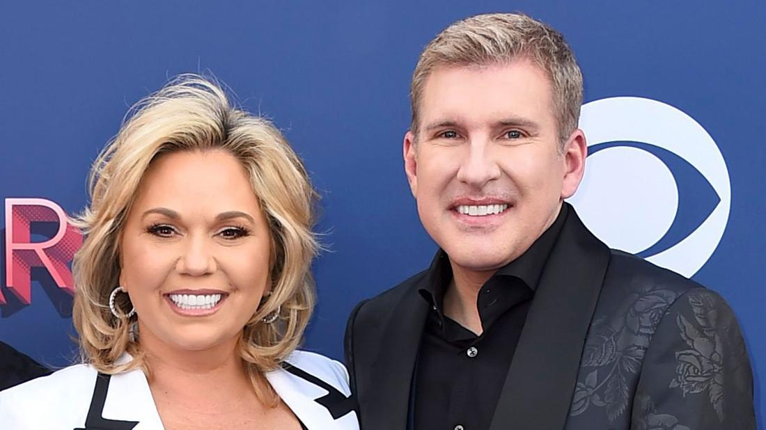 Todd Chrisley and Julie Chrisley attend 53rd Annual Academy Of Country Music Awards.
