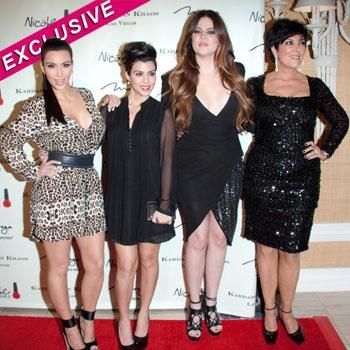 //kim khloe kourtney kardashian kris jenner sweatshop splash