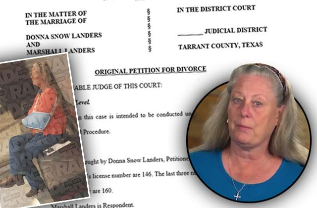 //texas flip and move donna snow landers divorce evict husband PP