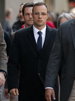 //oscar pistorius arrives trial pp tall