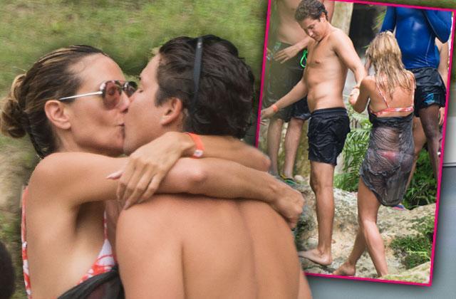 //heidi klum bikini kissing pda boyfriend pp