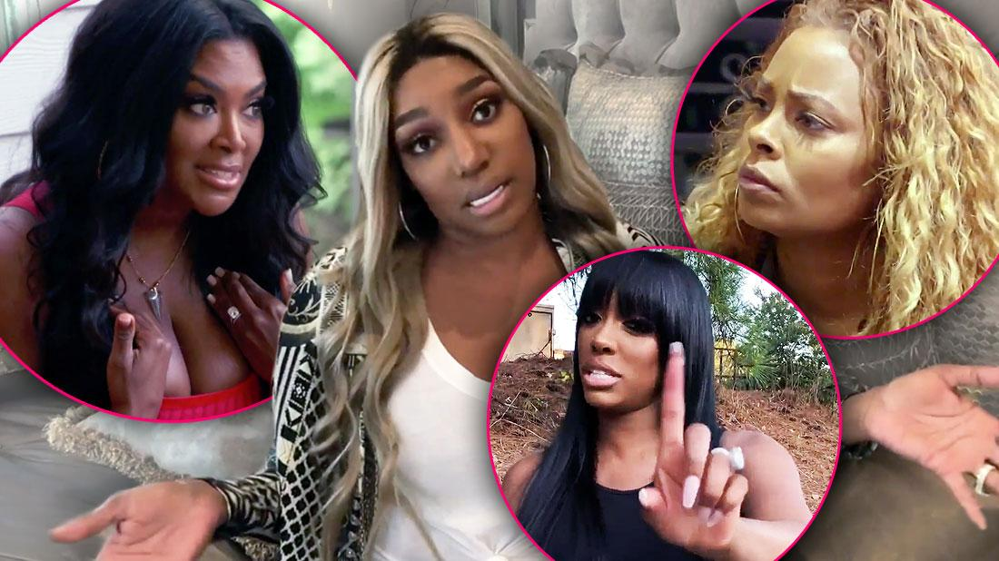 Kenya Moore, Nene Leakes Eva Marcille and Porsha Williams RHOA