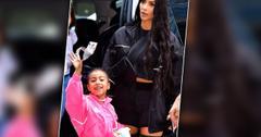 kim Kardashian slammed daughter north wears red lipstick