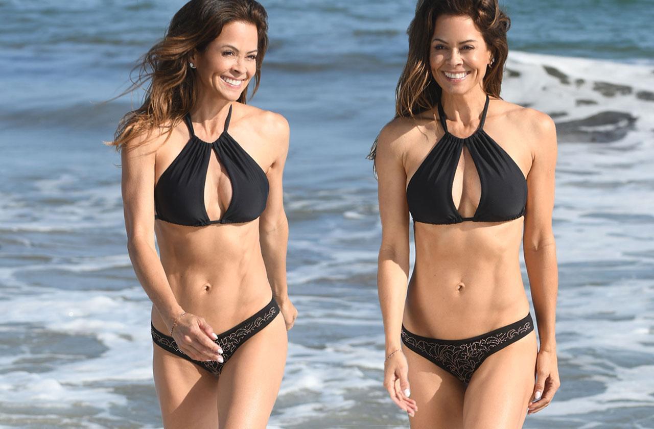 Brooke Burke Bikini Body Abs