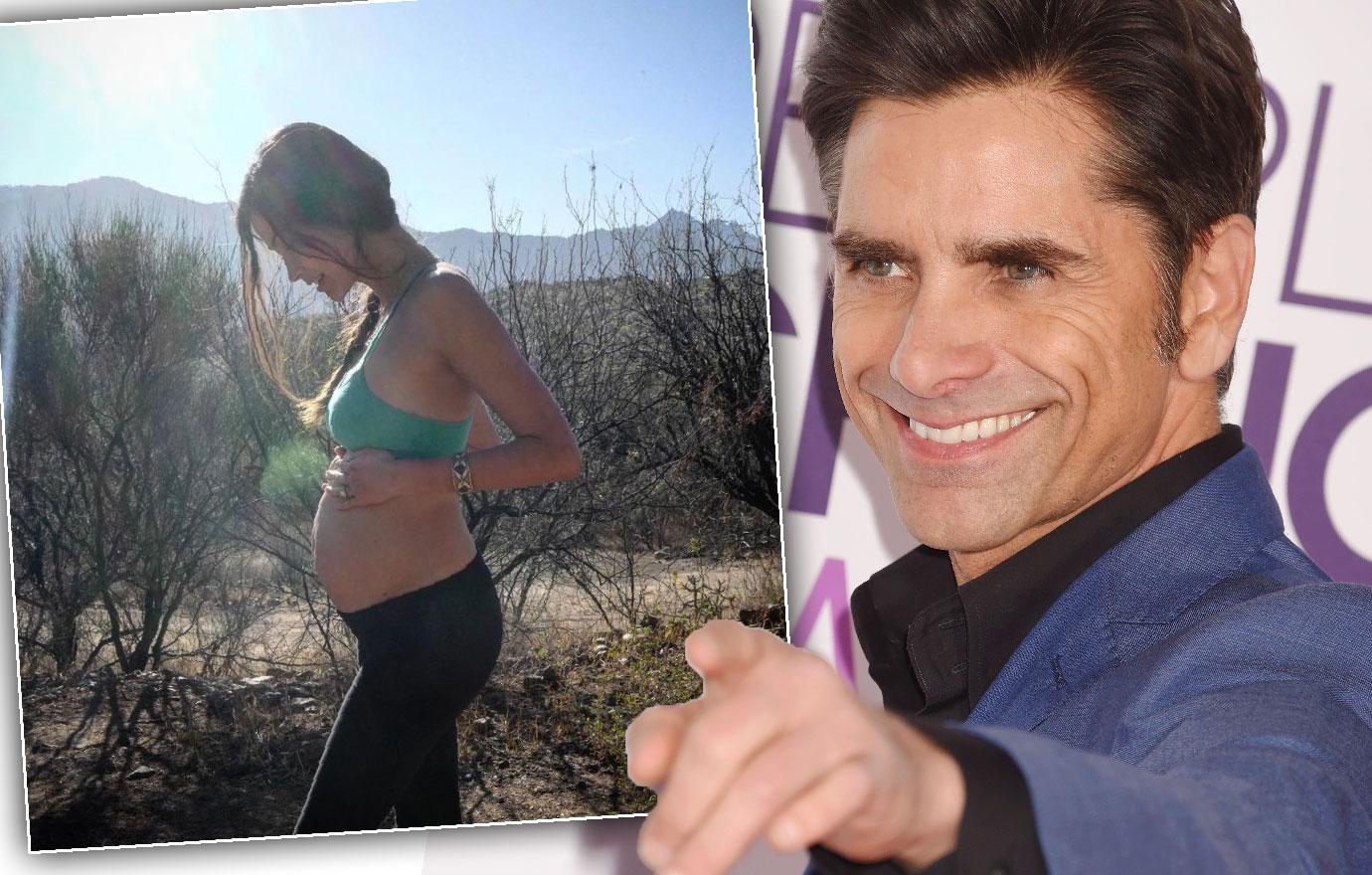 John Stamos Fiancee Posts Scantily Clad Baby Bump Pic