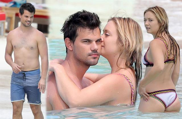 //billie lourd bikini taylor lautner shirtless kiss pp